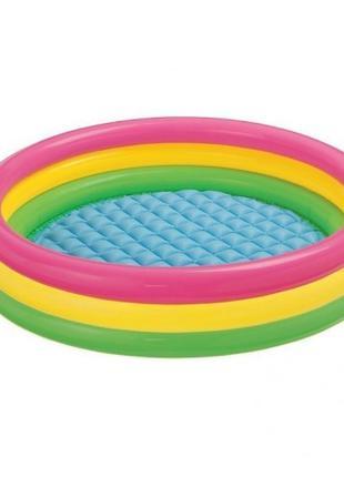 Детский надувной бассейн «Красочный» Intex 147х33см