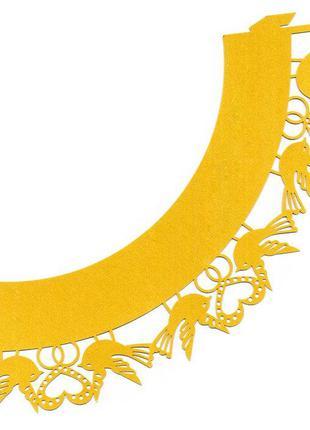 0358 Накладка бумажная декоративная ажурная для маффинов разны...