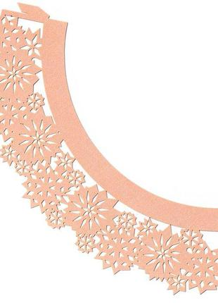 0373 Накладка бумажная декоративная ажурная для маффинов разны...