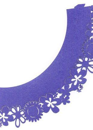0384 Накладка бумажная декоративная ажурная для маффинов разны...