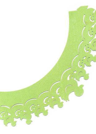 0382 Накладка бумажная декоративная ажурная для маффинов разны...