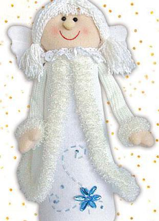 Новогодняя мягкая игрушка Ангел 33см BonaDi SN33-27