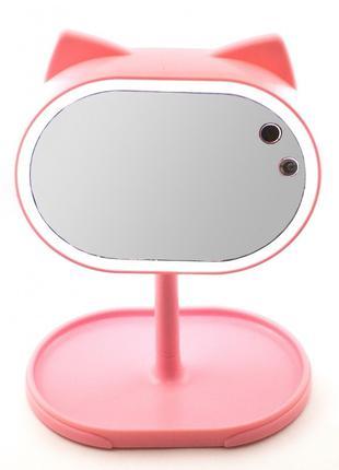 Большое зеркало с подсветкой для макияжа Led mirror FOX. Повор...