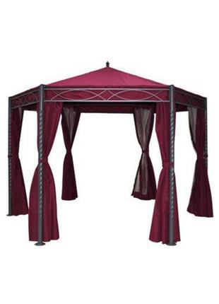 Дачный шатер павильон в восточном стиле бордовый