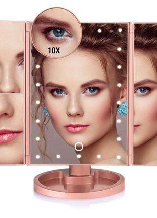 Зеркало Led Mirror квадратное со светодиодной подсветкой и ста...