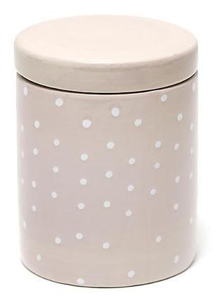 Банка керамическая круглая розовая в горох 500мл BonaDi DK0042-D