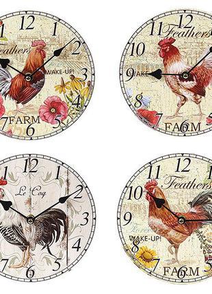 Часы настенные деревянные Петух BonaDi 487-220
