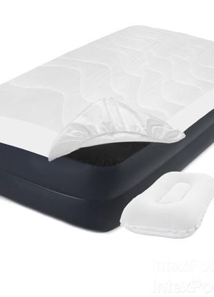 Надувная кровать Intex 64122-3, 99 х 191 х 42 см, электронасос...