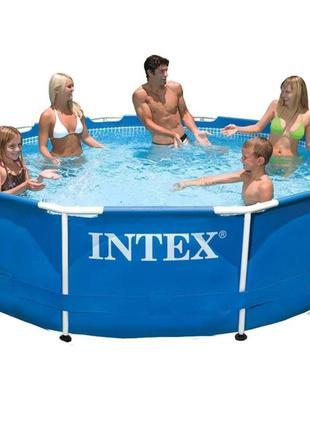 Каркасный бассейн Intex 28202 - 3, 305 x 76 см (1 250 л/ч, тен...