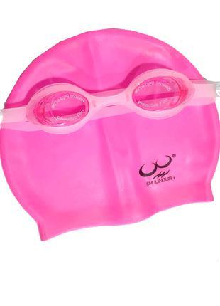 Набор 2 в 1 для плавания Bambi D25718 (очки: размер M, (8+), о...