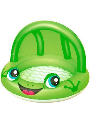 Детский надувной бассейн «Лягушка» Bestway 52189, зеленый, 97 ...