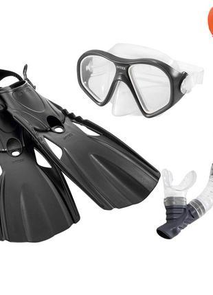 Набор 3 в 1 для плавания Intex 55657, размер L (маска 55977: р...