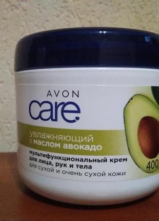 Крем для лица и тела с маслом авокадо avon care  400 ml