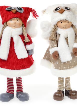 Мягкая новогодняя игрушка Ангел в шапке сова 52см, 2 вида Bona...