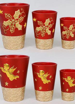 Набор керамических ваз (3шт), 2 вида BonaDi 254-V22