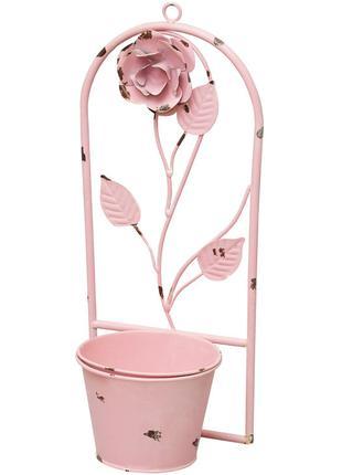 Кашпо-ваза (без декора) розовая 41см BonaDi 490-F20