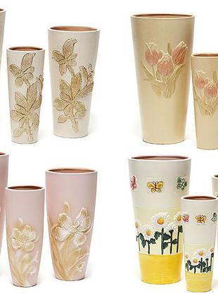 Набор керамических ваз (3шт), 4 вида BonaDi A04169-140