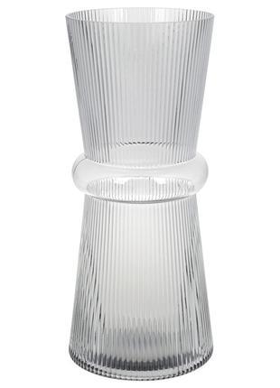 Стеклянная ваза Гамма 39см, цвет - светло-серый BonaDi 420-102