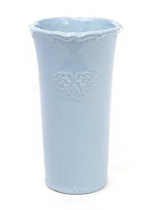 Керамическая ваза 22см Вензель, цвет голубой BonaDi 720-039