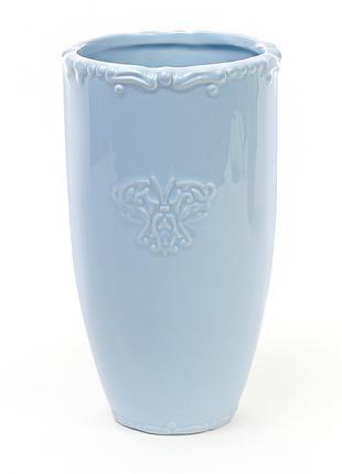 Керамическая ваза 22 см Вензель, цвет голубой BonaDi 720-043