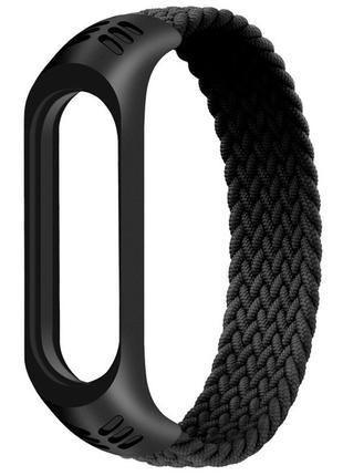 Тканевый монобраслет Braided Solo Loop для Xiaomi Mi Band 3/4/...