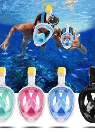 Инновационная маска для снорклинга подводного плавания с крепл...
