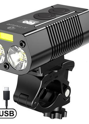 Велофонарь QD 1001 ЗУ micro USB