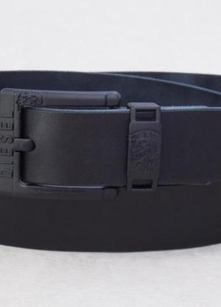 Мужской черный кожаный ремень diesel