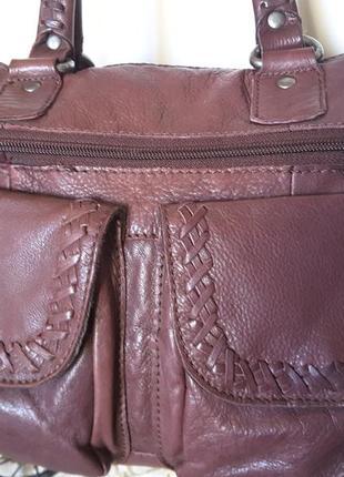 Роскошного качества практичная сумка из натуральной кожи