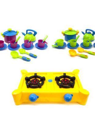 """Набор посуды """"Кухня Ева"""" (с жёлтой плитой) KW-04-414"""