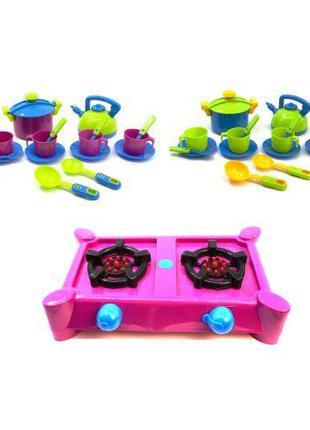 """Набор посуды """"Кухня Ева"""" (с розовой плитой) KW-04-414"""