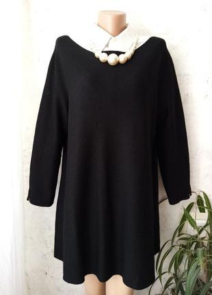 Шерстяное, короткое платье cos, туника, а-силуэт, оверсайз