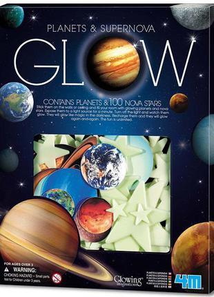 Набор светящихся наклеек 4M Планеты и 100 звезд (00-05631)