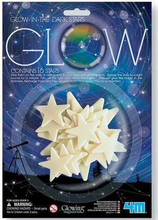 Набор светящихся наклеек 4M Звезды, 16 штук (00-05210)