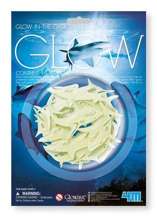 Набор светящихся наклеек 4M Акулы (00-05940)