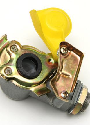 Разьем пневматический без клапана М22 желтый для грузовиков
