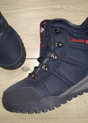 Зимние columbia fairbanks на овчине теплые термо ботинки мужск...
