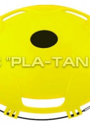 "Колпак на заднее колесо R 22,5"" из пластика желтого цвета CJ10..."