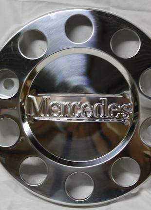 Колпак нержавейка 22,5 с надписью Mercedes для грузовиков