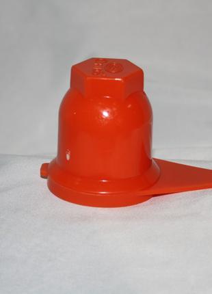 Колпачок на гайку 32мм оранжевый со стрелкой для грузовиков