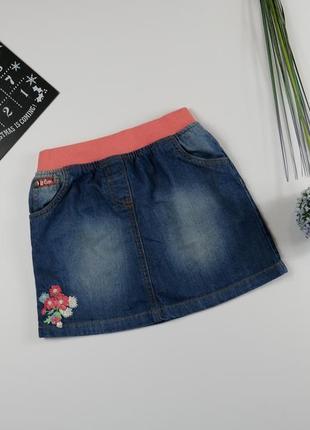 Джинсовая юбка на 5-6 лет, рост 116 см