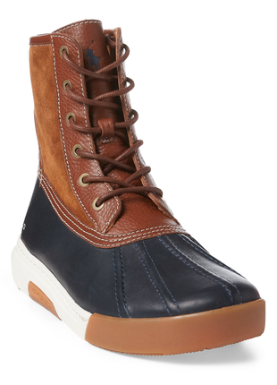 Мужские ботинки polo ralph lauren, кожа, оригинал 9,5d и 11d (...