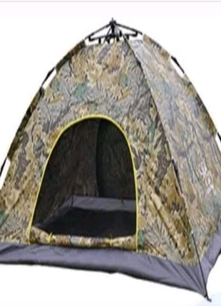 Палатка автоматическая 2-х местная Камуфляж Размер