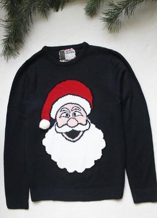 Мужской новогодний свитер с дедом морозом (89), размер м