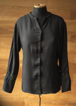 Красивая черная блузка natura, размер м