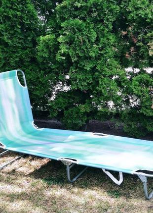 Шезлонг для отдыха styleberg раскладушка (6007)