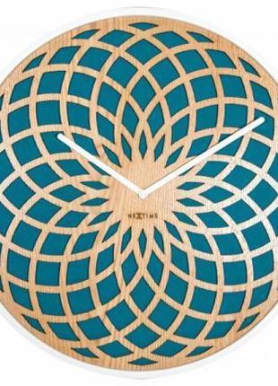 Часы настенные 50 см. бирюзовые Нидерланды 410601