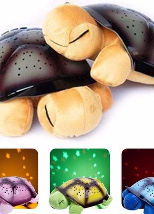 """Игрушка-проектор """"Музыкальная черепаха"""". Ночник-проектор звезд..."""