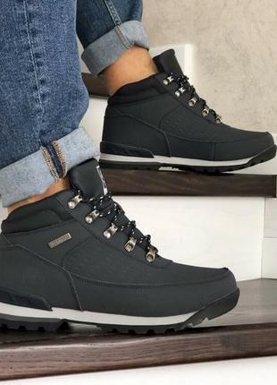 Зимние ботинки timberland кожа зимові мужские кроссовки