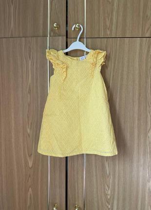 Детское платье с вышивкой хлопок